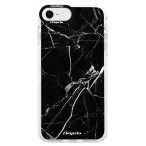 Silikónové puzdro Bumper iSaprio - Black Marble 18 - iPhone SE 2020
