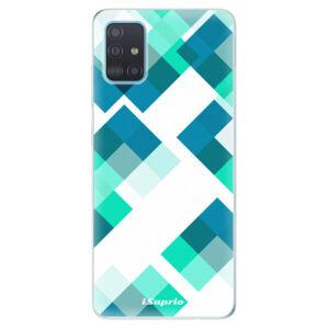 Odolné silikónové puzdro iSaprio - Abstract Squares 11 - Samsung Galaxy A51