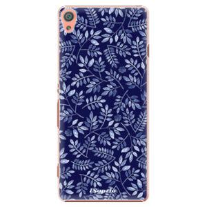 Plastové puzdro iSaprio - Blue Leaves 05 - Sony Xperia XA