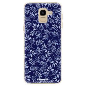 Plastové puzdro iSaprio - Blue Leaves 05 - Samsung Galaxy J6