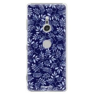 Plastové puzdro iSaprio - Blue Leaves 05 - Sony Xperia XZ3
