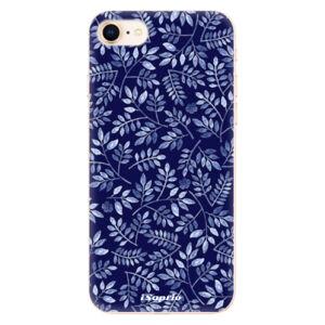 Odolné silikónové puzdro iSaprio - Blue Leaves 05 - iPhone 8