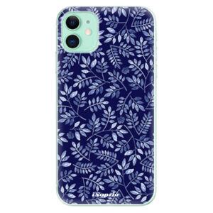 Odolné silikónové puzdro iSaprio - Blue Leaves 05 - iPhone 11