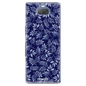 Plastové puzdro iSaprio - Blue Leaves 05 - Sony Xperia 10 Plus
