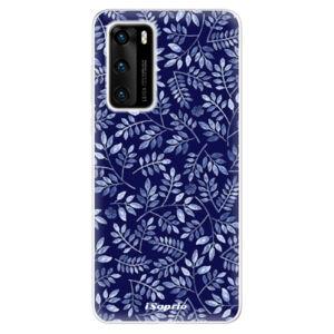 Odolné silikónové puzdro iSaprio - Blue Leaves 05 - Huawei P40