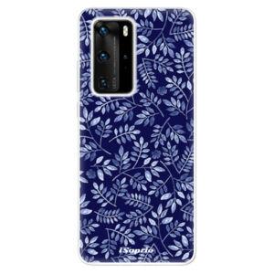 Odolné silikónové puzdro iSaprio - Blue Leaves 05 - Huawei P40 Pro