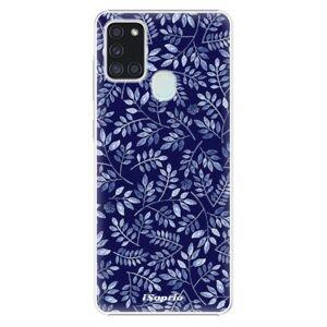 Plastové puzdro iSaprio - Blue Leaves 05 - Samsung Galaxy A21s