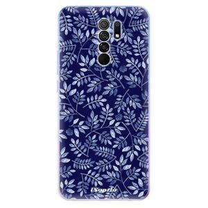 Odolné silikónové puzdro iSaprio - Blue Leaves 05 - Xiaomi Redmi 9