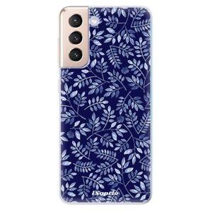 Odolné silikónové puzdro iSaprio - Blue Leaves 05 - Samsung Galaxy S21