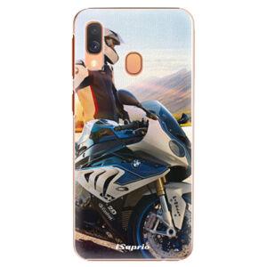 Plastové puzdro iSaprio - Motorcycle 10 - Samsung Galaxy A40