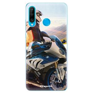 Odolné silikonové pouzdro iSaprio - Motorcycle 10 - Huawei P30 Lite