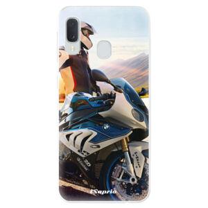 Odolné silikónové puzdro iSaprio - Motorcycle 10 - Samsung Galaxy A20e