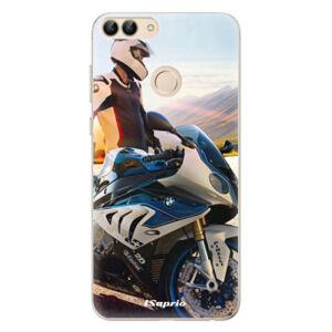 Odolné silikónové puzdro iSaprio - Motorcycle 10 - Huawei P Smart