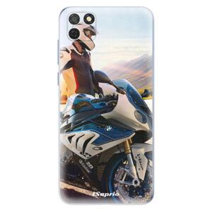 Odolné silikónové puzdro iSaprio - Motorcycle 10 - Honor 9S