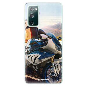 Odolné silikónové puzdro iSaprio - Motorcycle 10 - Samsung Galaxy S20 FE