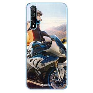 Odolné silikónové puzdro iSaprio - Motorcycle 10 - Huawei Nova 5T