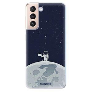 Odolné silikónové puzdro iSaprio - On The Moon 10 - Samsung Galaxy S21