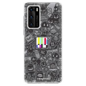 Plastové puzdro iSaprio - Text 03 - Huawei P40