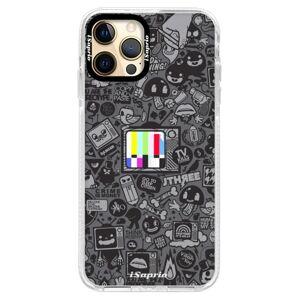Silikónové puzdro Bumper iSaprio - Text 03 - iPhone 12 Pro
