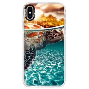 Silikónové púzdro Bumper iSaprio - Turtle 01 - iPhone XS Max