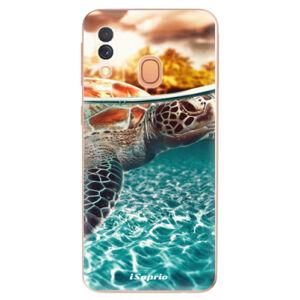 Odolné silikónové puzdro iSaprio - Turtle 01 - Samsung Galaxy A40