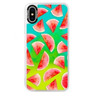 Neónové puzdro Blue iSaprio - Melon Pattern 02 - iPhone XS