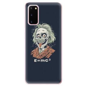 Odolné silikónové puzdro iSaprio - Einstein 01 - Samsung Galaxy S20