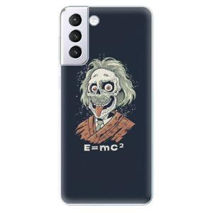 Odolné silikónové puzdro iSaprio - Einstein 01 - Samsung Galaxy S21+