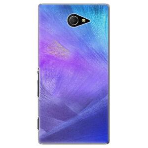 Plastové puzdro iSaprio - Purple Feathers - Sony Xperia M2