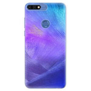 Silikónové puzdro iSaprio - Purple Feathers - Huawei Honor 7C