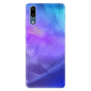 Silikónové puzdro iSaprio - Purple Feathers - Huawei P20