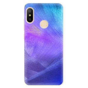Odolné silikónové puzdro iSaprio - Purple Feathers - Xiaomi Mi A2 Lite