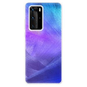 Odolné silikónové puzdro iSaprio - Purple Feathers - Huawei P40 Pro