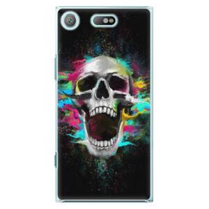 Plastové puzdro iSaprio - Skull in Colors - Sony Xperia XZ1 Compact