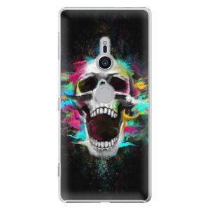 Plastové puzdro iSaprio - Skull in Colors - Sony Xperia XZ2