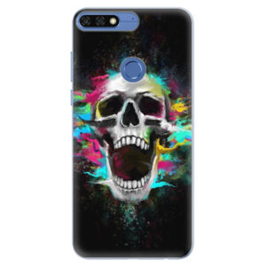 Silikónové puzdro iSaprio - Skull in Colors - Huawei Honor 7C