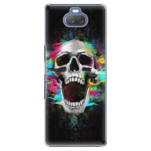 Plastové puzdro iSaprio - Skull in Colors - Sony Xperia 10 Plus