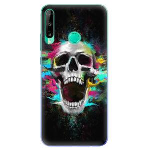 Odolné silikónové puzdro iSaprio - Skull in Colors - Huawei P40 Lite E