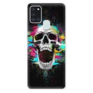 Odolné silikónové puzdro iSaprio - Skull in Colors - Samsung Galaxy A21s