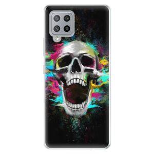 Odolné silikónové puzdro iSaprio - Skull in Colors - Samsung Galaxy A42