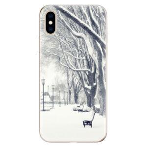 Odolné silikónové puzdro iSaprio - Snow Park - iPhone XS