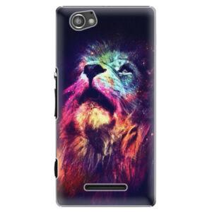 Plastové puzdro iSaprio - Lion in Colors - Sony Xperia M