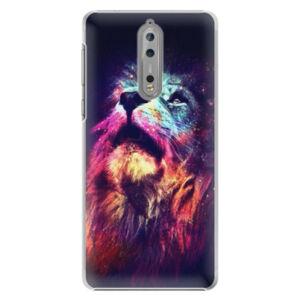 Plastové puzdro iSaprio - Lion in Colors - Nokia 8