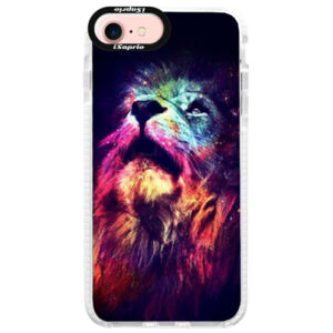 Silikónové púzdro Bumper iSaprio - Lion in Colors - iPhone 7