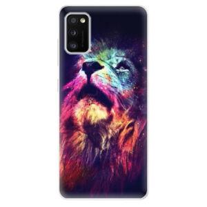Odolné silikónové puzdro iSaprio - Lion in Colors - Samsung Galaxy A41
