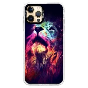 Silikónové puzdro Bumper iSaprio - Lion in Colors - iPhone 12 Pro