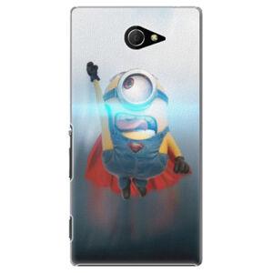 Plastové puzdro iSaprio - Mimons Superman 02 - Sony Xperia M2