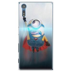 Plastové puzdro iSaprio - Mimons Superman 02 - Sony Xperia XZ