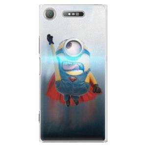 Plastové puzdro iSaprio - Mimons Superman 02 - Sony Xperia XZ1