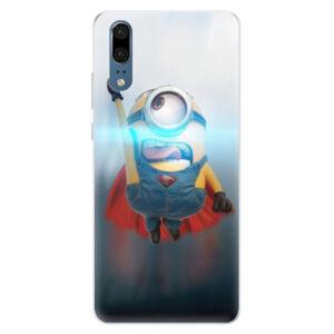 Silikónové puzdro iSaprio - Mimons Superman 02 - Huawei P20